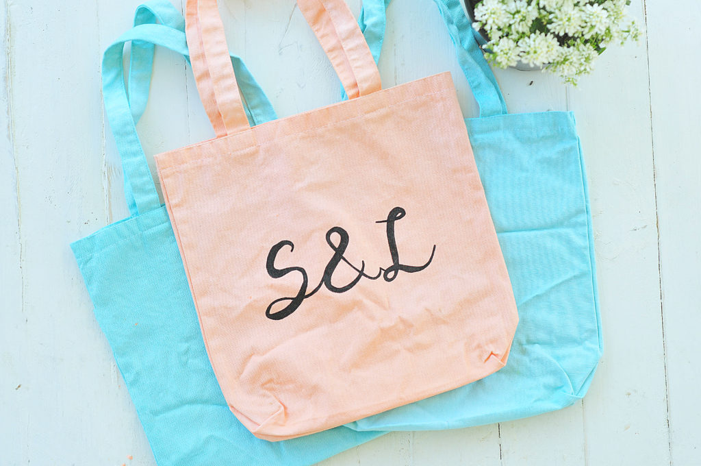 Signature S&L Tote Bag - Coral & Mint