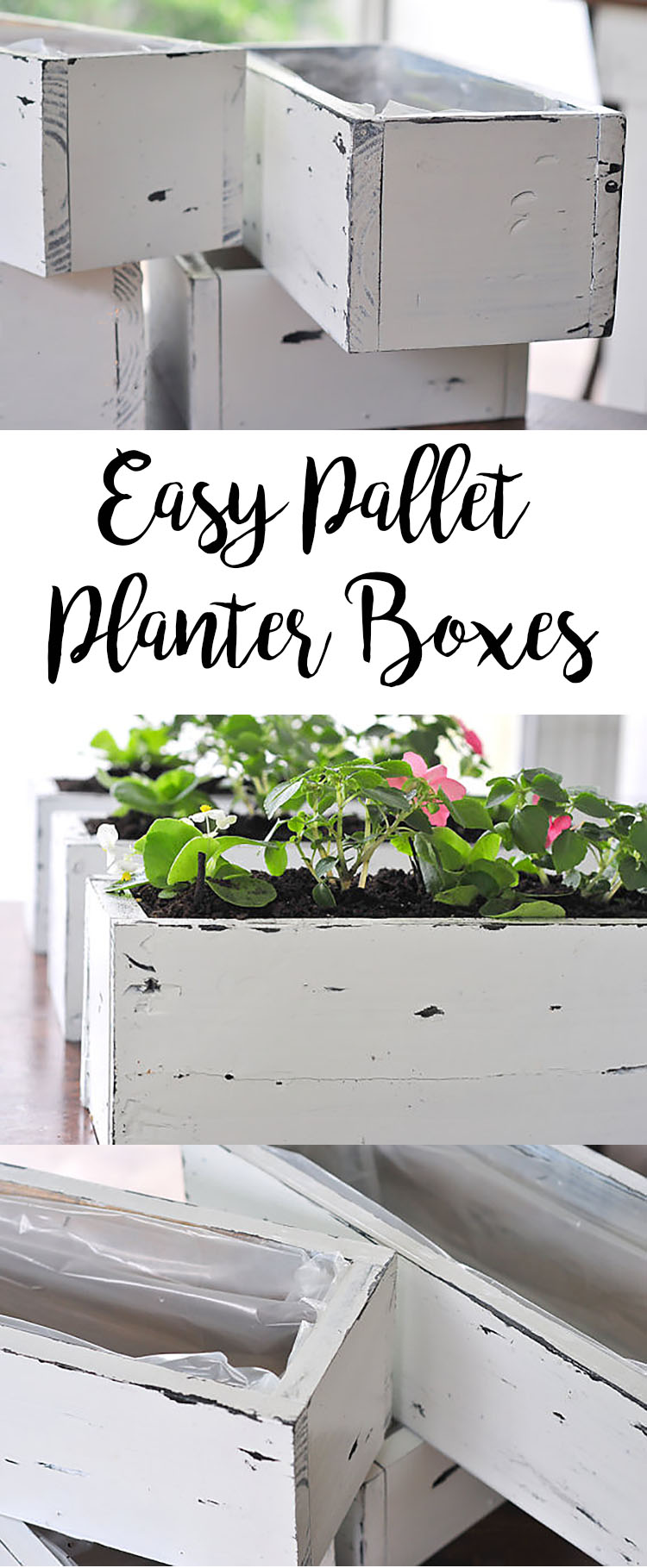 Easy Diy Pallet Planter Boxes The Junq Drawer