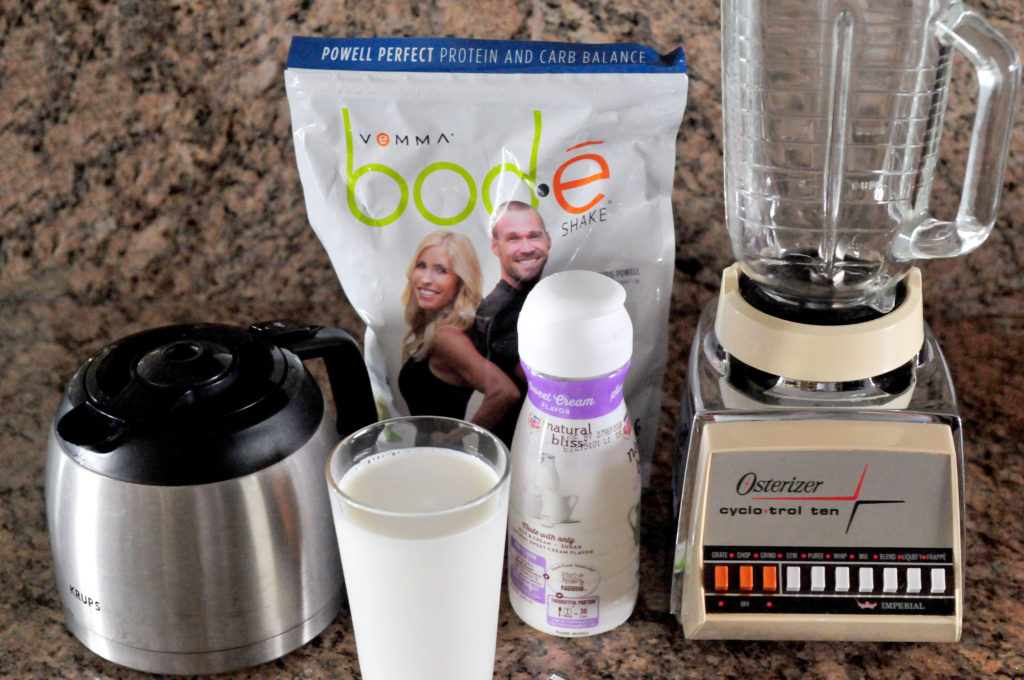 Ingredients for Frozen Coffee Protein Shake