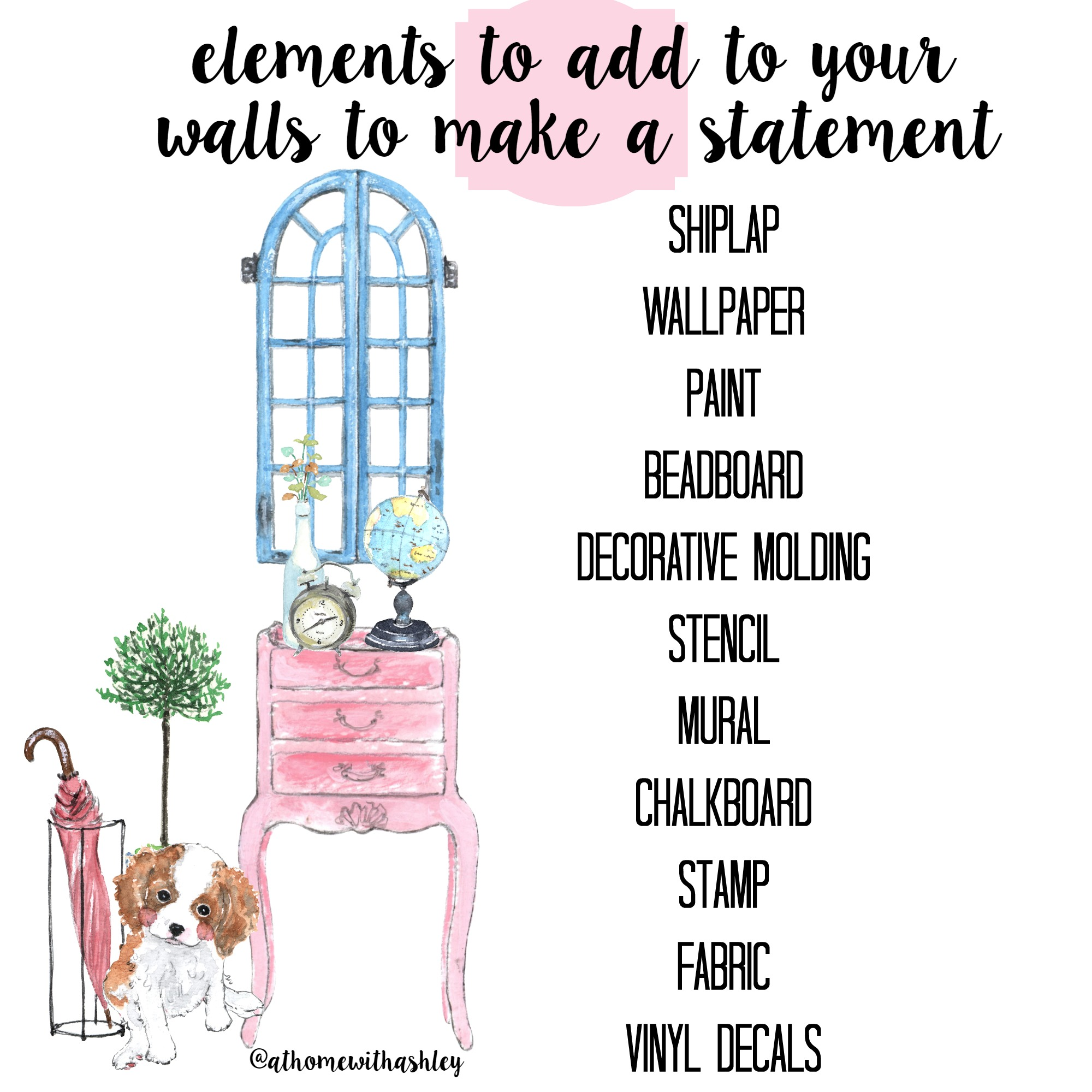 elements to add to your walls to make a statement