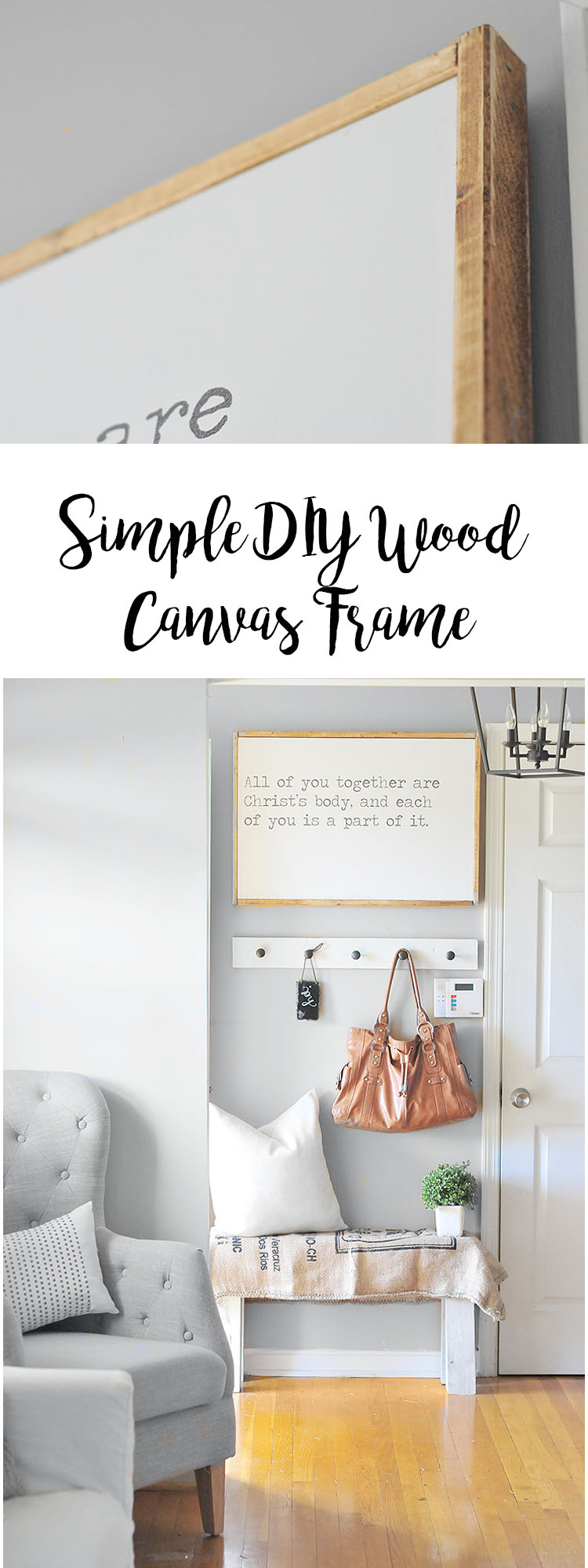 DIY Wood Canvas Frame | THE JUNQ DRAWER